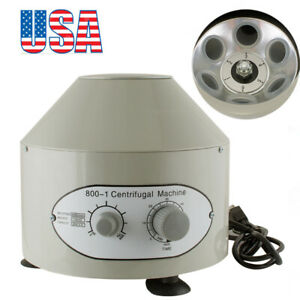 Electric Centrifuge Machine Lab Medical Practice 800 1 4000rpm With 6x20ml Rotor