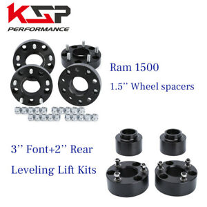 2012 2018 Dodge Ram 1500 Wheel Spacer Kit 4x 1 5 Lift Kit 3 Front 2 Rear