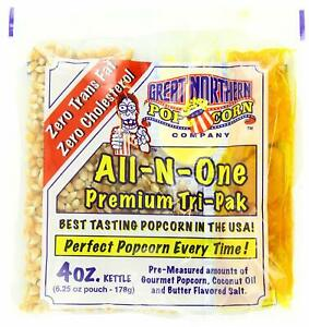 4111 Great Northern Popcorn Premium 12 Ounce Popcorn Portion Packs Cinema Case