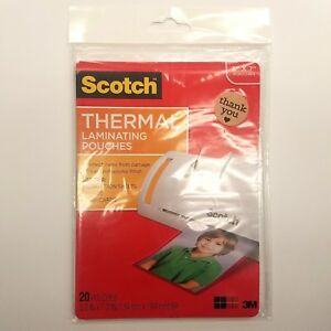 Scotch 3m Thermal Laminating Pouches 5 Inch By 7 Inch 20 Pouches Tp5903 20