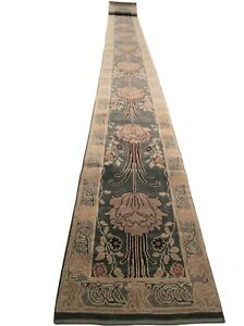 Rare Transitional Runner Rug Persian Arts Crafts Gray 3 X30 79cm X 895cm