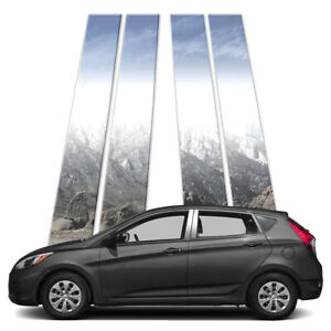 4p Pillar Post Covers Fits 2012 2018 Hyundai Accent Hatchback By Brighter Design