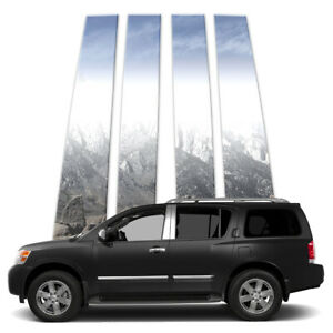 4p Stainless Pillar Post Covers Fits 2005 2015 Nissan Armada By Brighter Design