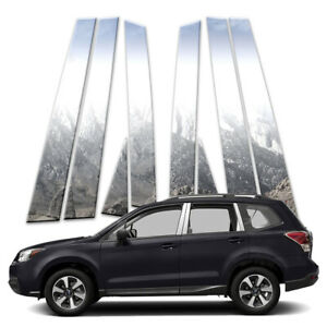 8p Stainless Pillar Post Covers Fits 2013 18 Subaru Forester By Brighter Design