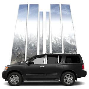 6p Stainless Pillar Post Covers Fits 2005 2015 Nissan Armada By Brighter Design