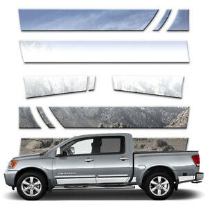 11p 5 1 2 Rocker Panels Fits 2004 15 Titan Crew Cab W Tool Box And Guards By Bd