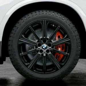 Bmw Oem G05 X5 G01 X3 G04 X4 749m M Double Spoke 22 Wheel Tire Set Gloss Black