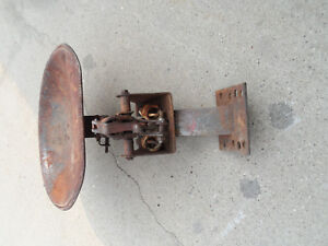 Tractor Lawn Mower Seat Antique Metal Shock Crank Spring Absorder Iron Part