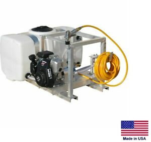 Sprayer Commercial Skid Mounted 7 Gpm 150 Psi 5 Hp 50 Gallon Tank