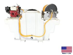 Sprayer Commercial Skid Mounted 9 5 Gpm 580 Psi 5 5 Hp 300 Gallon Tank