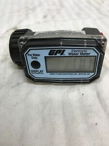 Gpi Electronic Water Meter 150psig Model 01n31gm 1 Ports