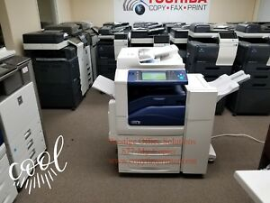 Xerox Workcentre 7830 Color Copier Printer Scanner With Stapling Finisher