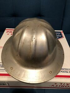 Vintage Aluminum Hard Hat Construction Safety