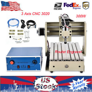 3 Axis Cnc 3020 Router Engraver Engraving Milling Motor Machine 300w Er11 3 175