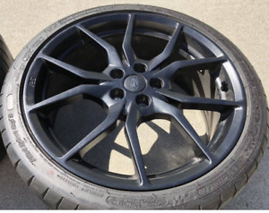 2018 16 18 Ford Focus Rs 19 19x8 Forged Aluminum Oem Matte Black Wheel Tire