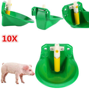 10pcs Livestock Pp Water Drinker Feeder For Sheep Pig Hog Atuomatic Drinker Bh