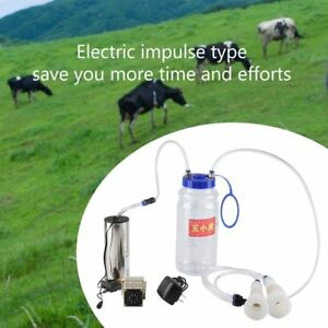 2l Electric Milking Machine Cow Sheep Goat Milker Portable Vacuum Pump Bucket Bh