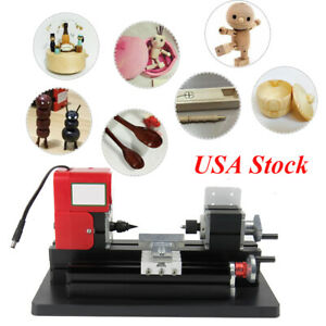 usa mini Lathe Milling Machine 12v 110v 2a 24w Bench Drill Wood Engraving Power