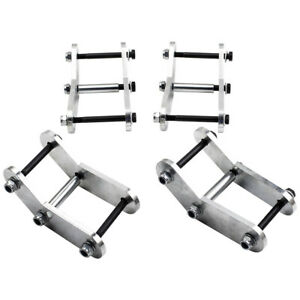 1 25 1 1 4 Lift Shackle Kit Front Rear For Jeep Wrangler Yj 1987 88 89 95