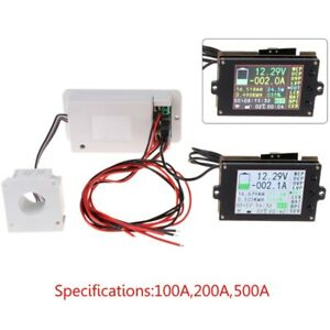 Dc 500v 100a 200a 500a Wireless Ammeter Voltmeter Coulometer Battery Power Meter