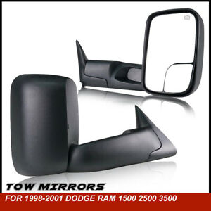 For 1998 2001 Dodge Ram 1500 2500 3500 Tow Mirrors Power Heated Left right 2p