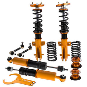 Twin Tube Damper Coilover Suspension Kits For Ford Mustang 2005 2014 Golden
