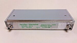 Aeroflex Weinschel Inc Programmable Step Attenuator 6812 18 Ghz 0 75 Db 150t 75