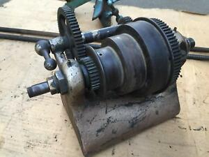 Headstock Spindle Gear Barnes 5 Metal Cutting Lathe 11 Foot Power Velocipede