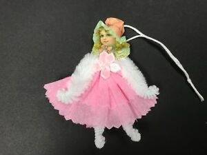 Paper Doll Valentine S Day Easter Ornaments Chenille Feather Tree Item 20