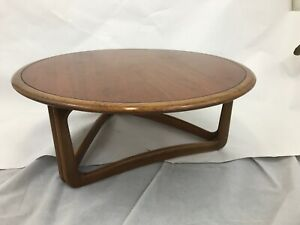 Mcm Lane Adrian Pearsall Walnut Round Coffee Cocktail Table Sculpted 37