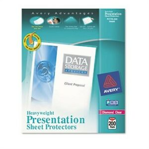 Top load Poly Sheet Protectors Heavy Letter Diamond Clear 200 box
