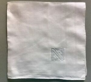 Beautiful Madeira Hankerchief Hankie Monogrammed F Unused
