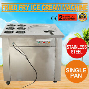 Commercial Fried Ice Cream Fry Yogurt Machine 1pan 6boxes Ice Crean Roll Making