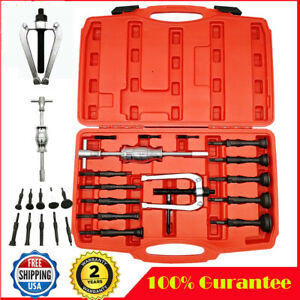 16pc Blind Hole Pilot Bearing Puller W Slide Hammer Internal Extractor Removal