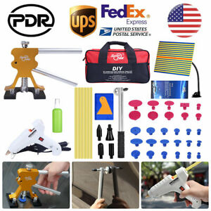 Us Pdr Puller Lifter Auto Body Paintless Dent Repair Tools Removal Glue Gun Kits