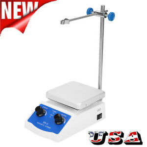 Sh 2 Digital Lab Thermostatic Hot Plate Magnetic Stirrer Mixer Us Plug 110v