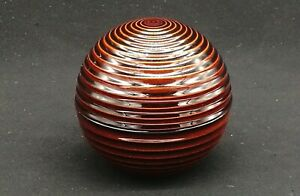 Japanese Tea Ceremony Lacquer Tea Wood Incense Container