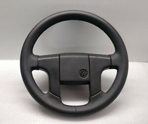 Vw Golf Mk2 Gti Leather Steering Wheel Corrado Caddy Jetta Cabrio Retro