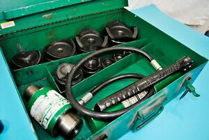 Greenlee Tool 7310 Ram 746 Hydraulic Knockout Punch Driver Set 7 8 4 Extra