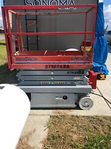 2007 Skyjack Sj3219 19 Electric Scissor Lift Man Aerial Platform Extension 24 V
