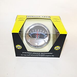 Moon Tach With Chrome Cup For 4 6 Or 8 Cylinder Engines