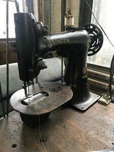 Vintage Singer 133k18 Darning Industrial Sewing Machine Heavy Work Sack Canvas