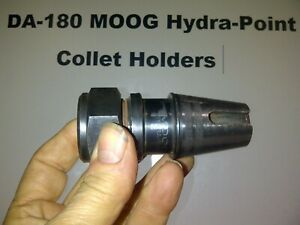 10 Collet Holders Da 180 Hydra point Moog V g Condition With Covers