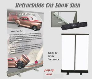 Car Show Or Auction Display W Tote Bag Your Car