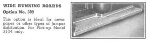 Rare Accessory 1947 1954 Chevy Wide Running Boards Gmc Gm Ad Truck Hot Rod Rat