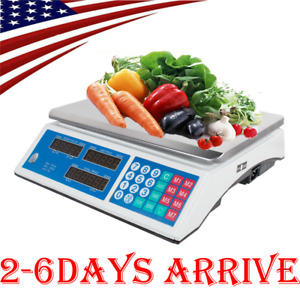 Digital Weight Scale Price Computing Food Meat Scale Produce Indutrial 66lbs