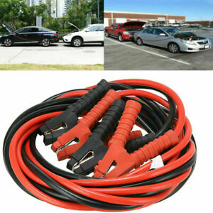 1200amp 1 Gauge Booster Cables 20ft Power Start Jumper Heavy Duty Car Van Us