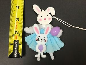 Easter Decoration Chenille Feather Tree Ornaments Bunny Gift Tags Item 30