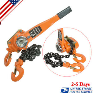 1 5 Ton 3000lb Capacity Chain Lever Block Hoist Come Along Ratchet Lift Us Ship