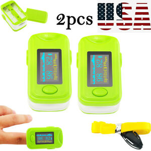 2xgreen Monitor Oximeter Oled Finger Pulse Oximeter Alarm Sound Spo2 Device Fda